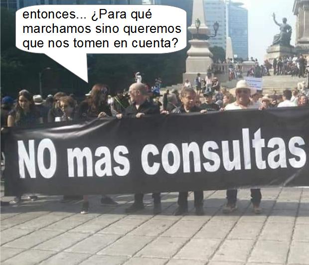 Marcha contra la consulta