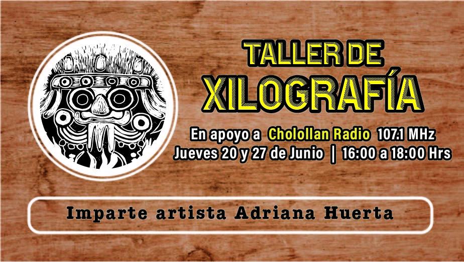 Taller de grabado en madera a beneficio de Cholollan Radio @ Cholollan Radio